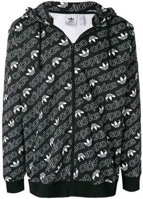 adidas monogram print hoodie