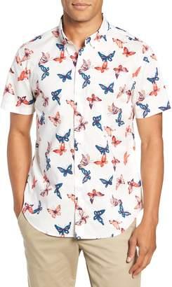 Bonobos Riviera Butterfly Print Sport Shirt