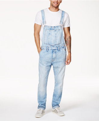 Guess Men's Riverbed Stretch Overalls $148 thestylecure.com