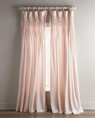 "Pom Pom at Home Each 42""W x 96""L Smocked Linen Curtain"