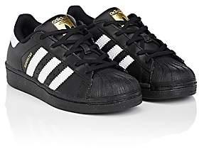 adidas Kids' Superstar Foundation Leather Sneakers-Cblack, Ftwwht, Cblack