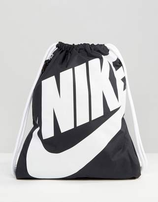 Nike Heritage Black Drawstring Backpack