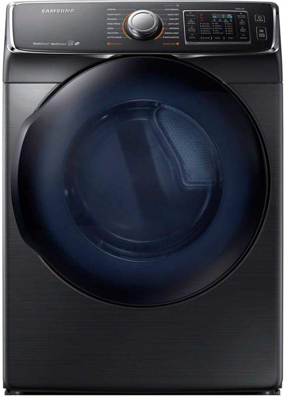 Samsung 7.5 cu. ft. 6500-Series Front-Load Electric Dryer with Multi-Steam Technology - Black Stainless Steel