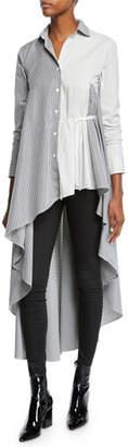 Palmer Harding palmer//harding Super Button-Front Asymmetric Cotton Shirt