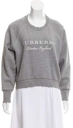 Burberry Embroidered Logo Sweater