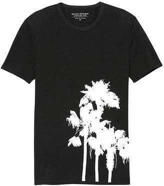 Banana Republic Soft Wash Palm Print Graphic T-Shirt