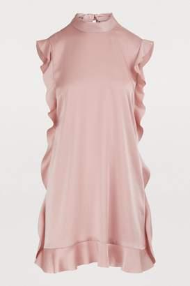 RED Valentino Sleeveless short satin dress