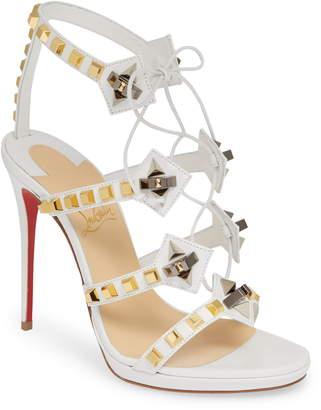 12165f04ee9 Christian Louboutin Multiplaticool Studded Gladiator Sandal