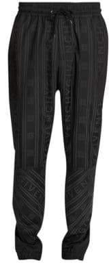 Givenchy All-Over Tonal Stripe Logo Joggers