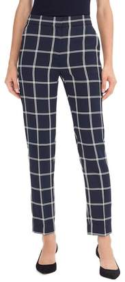 J.Crew J. Crew French Girl Windowpane Slim Crop Pants