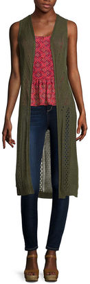 ARIZONA Arizona Pointelle Duster Vest $40 thestylecure.com