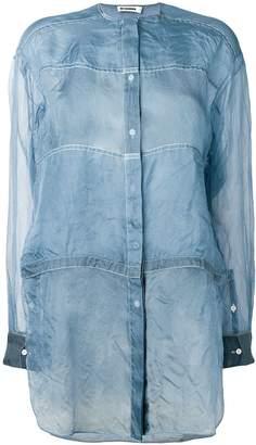 Jil Sander lightweight see-through shirt