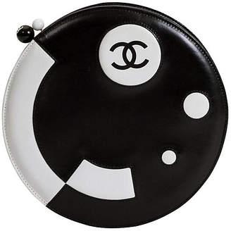 One Kings Lane Vintage Round Chanel Black & White Bag - Vintage Lux