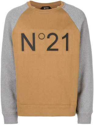 No.21 branded raglan sweatshirt