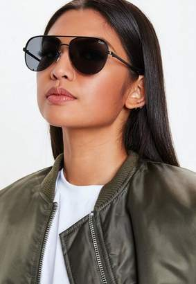 Missguided Quay Australia Black High Key Mini Sunglasses