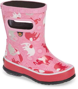 Bogs Skipper Elephant Print Rubber Waterproof Rain Boot