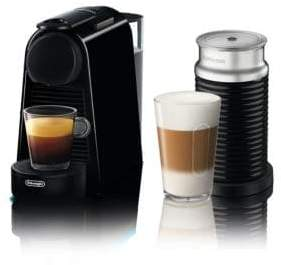 Nespresso Essenza Mini Espresso Coffee Machine with Aeroccino Milk Frother by De'Longhi, Black EN85BAECA