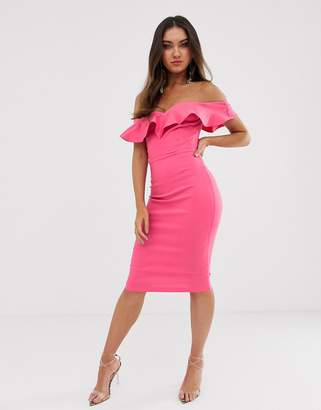 b1f9620f Vesper bodycon dress with sweetheart neckline with fill in fushcia