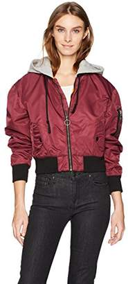 Hudson Women's Rogue Cropped Bomber with Hood