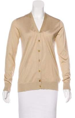 Ralph Lauren Silk Button-Up Cardigan
