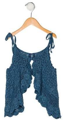 Anna Sui Girls' Sleeveless Crochet Top