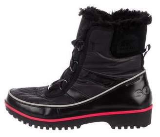 Sorel Shearling-Trimmed Ankle Boots