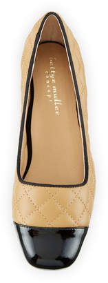 Bettye Muller Concept Greta Cap-Toe Quilted Pumps
