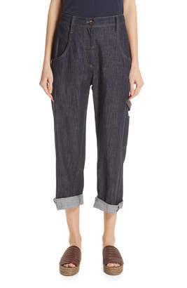 Brunello Cucinelli Crop Carpenter Jeans