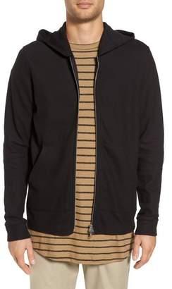 Theory Daulton Ridge Waffle Knit Zip Hoodie