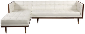 Mid-Century MODERN 808 Home Kardiel Woodrow Leather Box Sectional Sofa