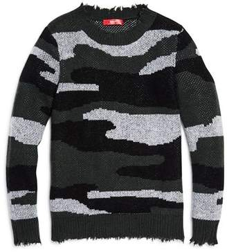 Aqua Girls' Camo Cashmere Sweater, Big Kid - 100% Exclusive