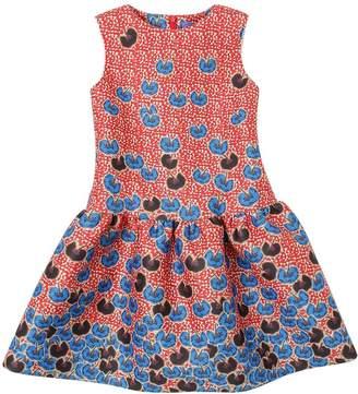 Stella Jean Sleeveless Floral Printed Neoprene Dress