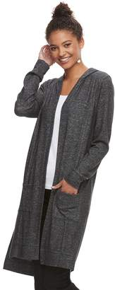 It's Our Time Its Our Time Juniors' Hatchi Hooded Duster Cardigan