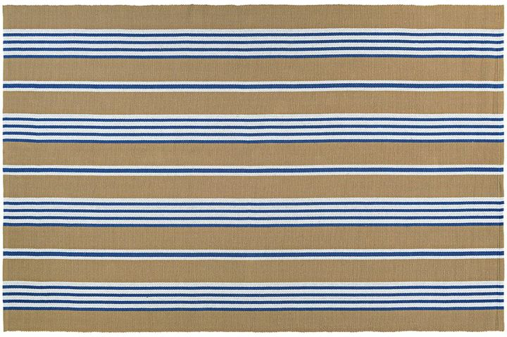 Couristan Couristan Bar Harbor Iced Coffee Striped Reversible Cotton Rug