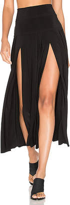 Norma Kamali Pleated Skirt with Slit