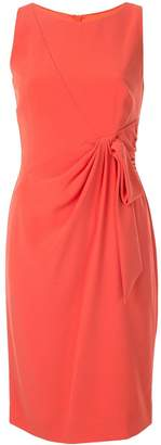 Paule Ka draped bow fitted dress