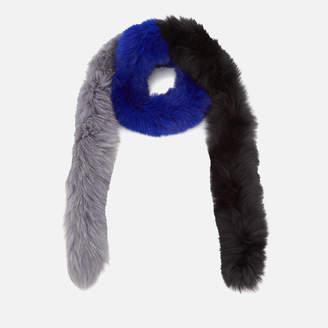 Bklyn BKLYN Women's Fox Fur Scarf