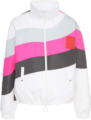 Off-White Striped Shell Coat