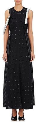 Calvin Klein Women's Kensett Polka Dot Silk Maxi Dress & Column Dress $2,495 thestylecure.com