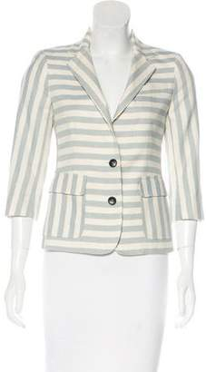 Band Of Outsiders Stripe Notched-Lapel Blazer