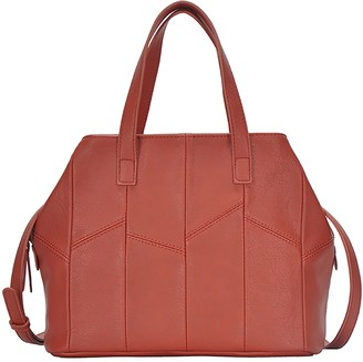 Antik Kraft Patchwork Faux Leather Satchel