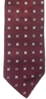 Etro Geometric Jacquard Silk Tie