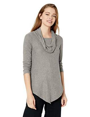 Amy Byer A. Byer Cowl Neck Super-Soft Tunic Sweater with V Hemline (Junior's)