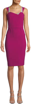 Roland Mouret Colorblocked Sweetheart Fitted Dress