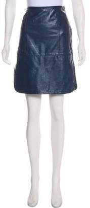 Tory Burch Leather Knee-Length Skirt