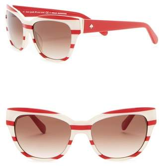Kate Spade Aisha 54mm Cat Eye Sunglasses