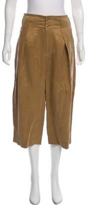Closed High-Rise Wide-Leg Pants w/ Tags Khaki High-Rise Wide-Leg Pants w/ Tags