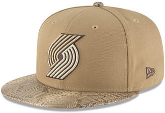 New Era Portland Trail Blazers Snakeskin Sleek 59FIFTY Fitted Cap