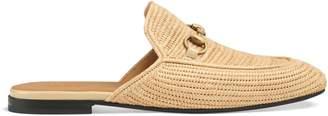 Gucci Raffia Princetown slipper