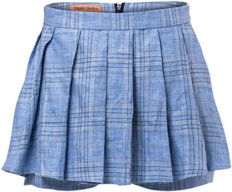 Maggie Marilyn Say You'll Never Let Me Go Pleated Plaid Linen Skort